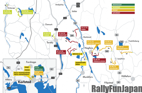 Rally Sweden 2014 Stage Map (c) VW WRT